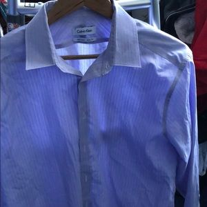 Calvin Klein Purple Dress Shirt 16.5 34/35